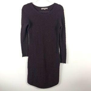 Ann Taylor LOFT Purple Sweater Dress